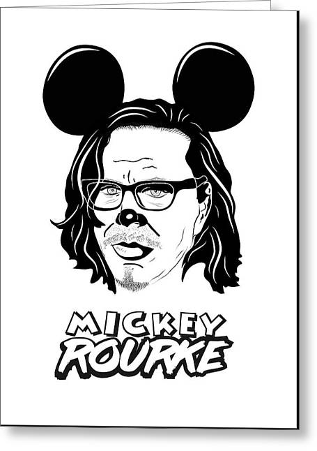 Mickey Rourke Greeting Card