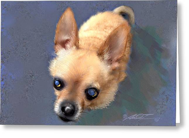 Mickey The Rescue Dog Greeting Card