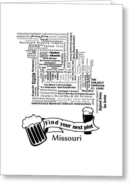 Micro Brew Missouri Greeting Card by Ryan Burton