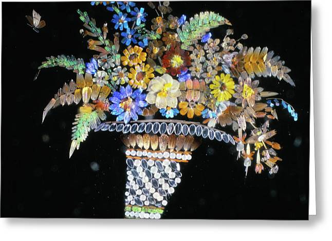 Micromosaic By Henry Dalton Greeting Card