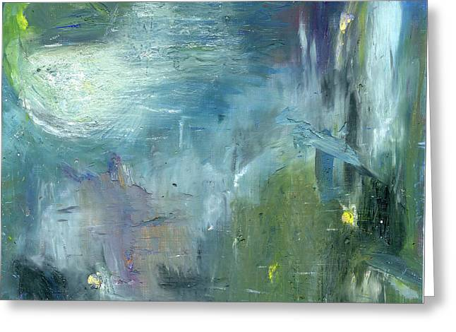 Greeting Card featuring the painting Mid-day Reflection by Michal Mitak Mahgerefteh