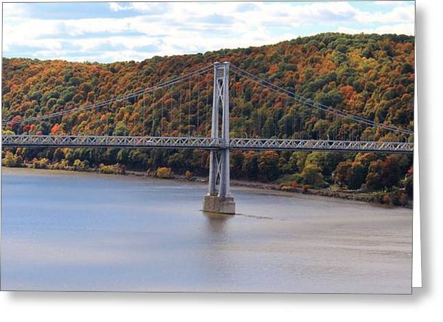 Mid Hudson Bridge In Autumn Greeting Card