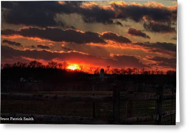Greeting Card featuring the photograph Mid Ohio Sunset by Bruce Patrick Smith