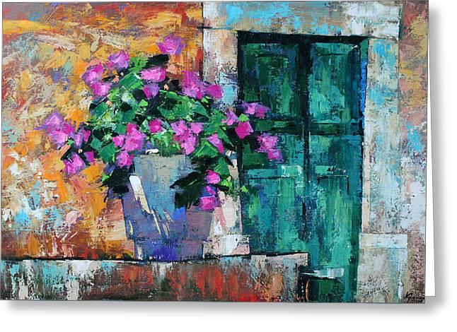 Greeting Card featuring the painting Mid Summer by Anastasija Kraineva
