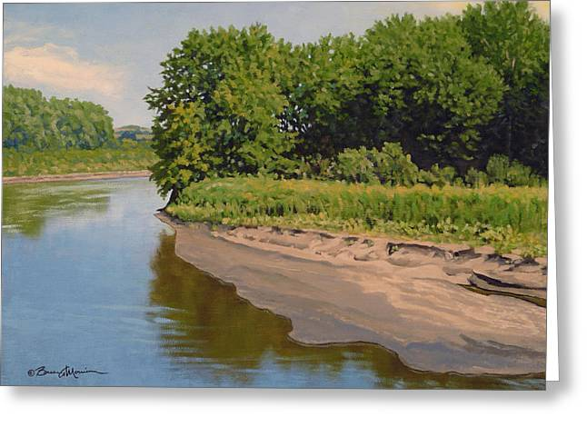 Mid Summer Prairie Stream Greeting Card