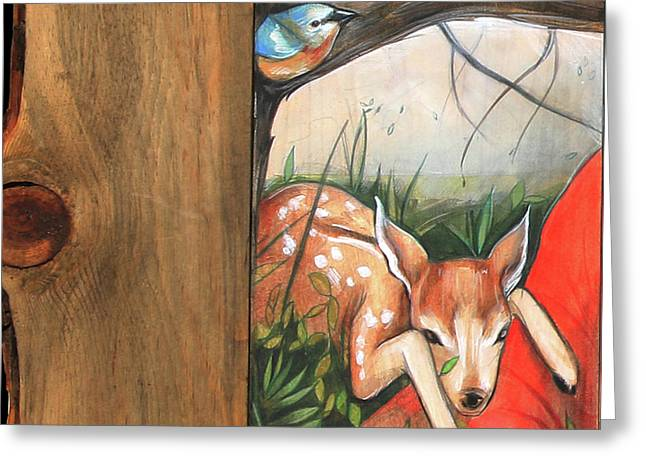 Mid-summers Day Dream 1st Panel Greeting Card by Jacque Hudson