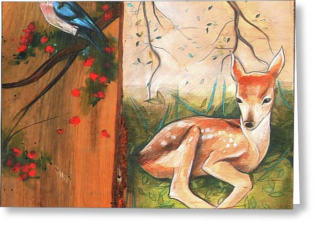 Mid-summers Day Dream 4th Panel Greeting Card by Jacque Hudson