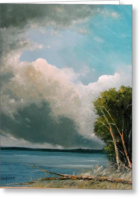Midday Clouds Greeting Card