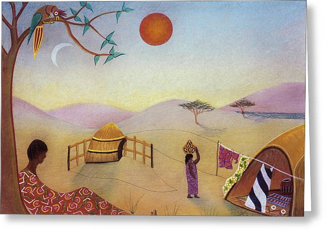 Midday Sun Greeting Card by Sally Appleby