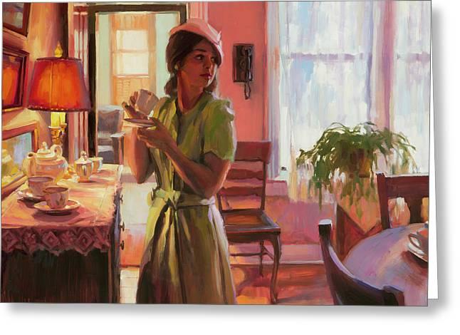 Midday Tea Greeting Card by Steve Henderson