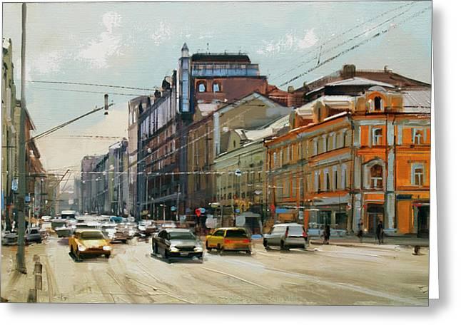 Midday. Tver Stream. Tverskaya Zastava Square. Greeting Card