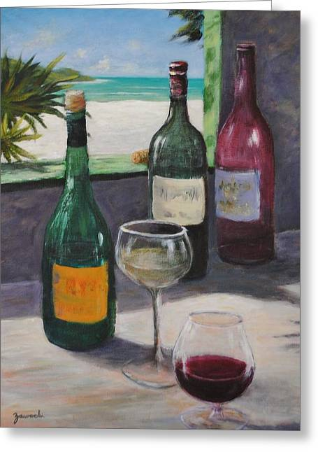 Midday Wine Greeting Card