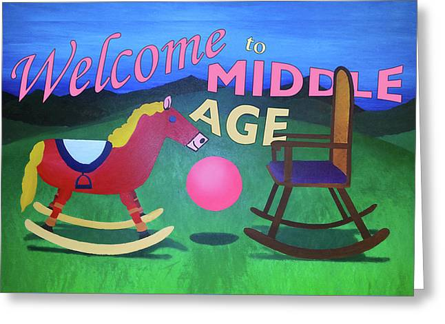 Middle Age Birthday Card Greeting Card