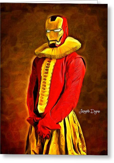 Middle Ages Iron Man Greeting Card by Leonardo Digenio