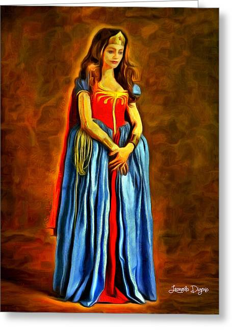 Middle Ages Wonder Woman Greeting Card