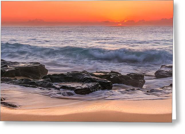 Middle Beach Sunrise Greeting Card