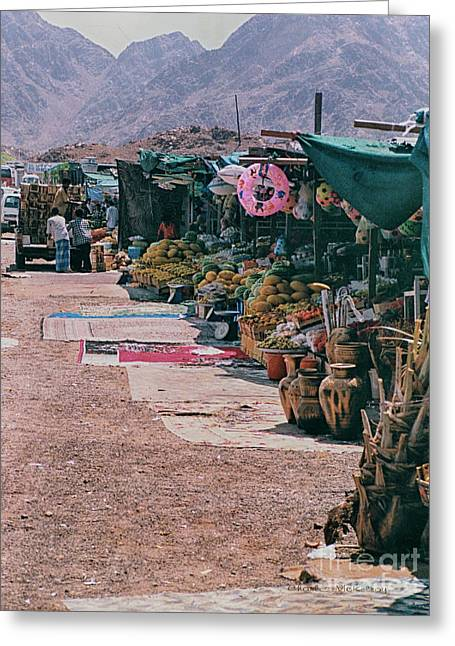 Greeting Card featuring the photograph Middle-east Market by Charles McKelroy