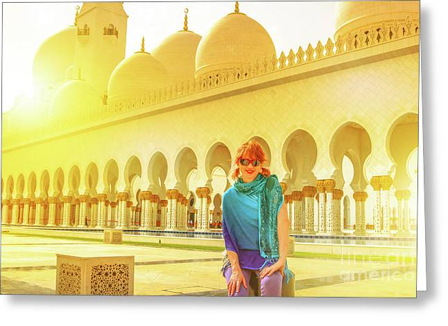 Middle East Tourism Concept Greeting Card