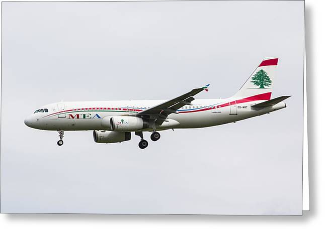 Middle Eastern Airlines Airbus Greeting Card