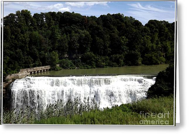 Middle Falls In Rochester New York Greeting Card