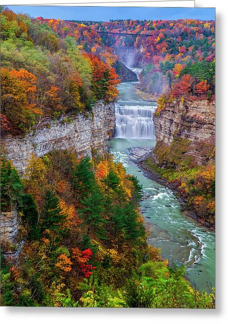 Middle Falls Of Letchworth State Park Greeting Card