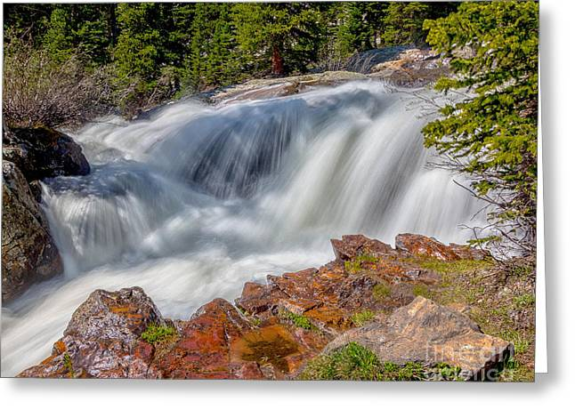 Middle Fork Falls Greeting Card