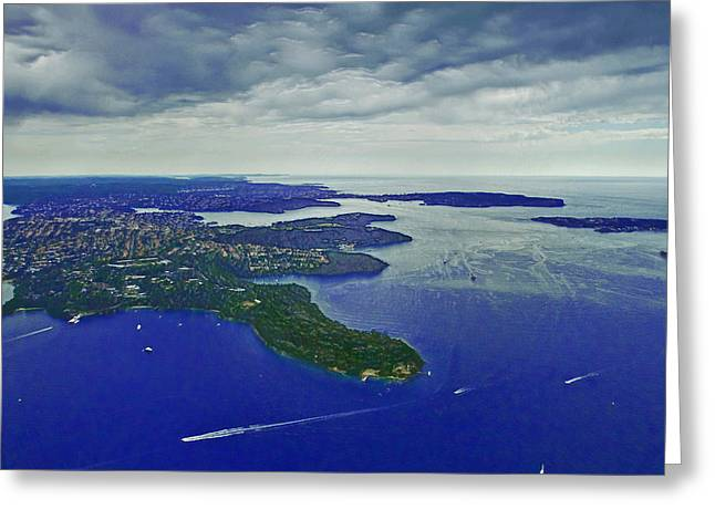 Middle Head And Sydney Harbour Greeting Card by Miroslava Jurcik