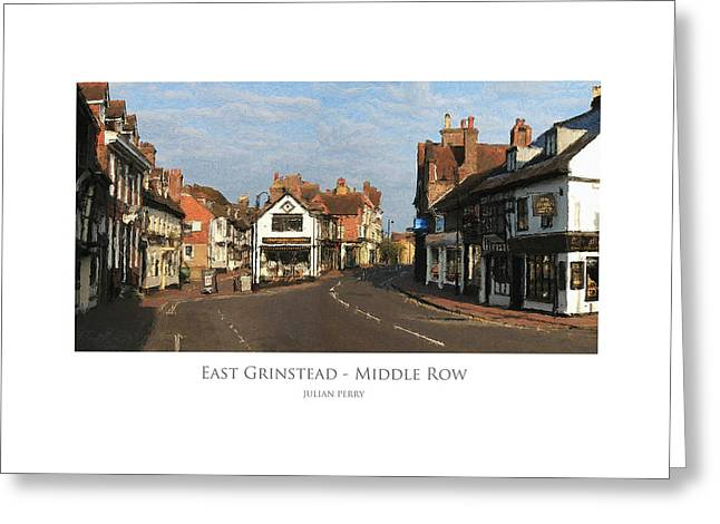 Middle Row East Grinstead Greeting Card
