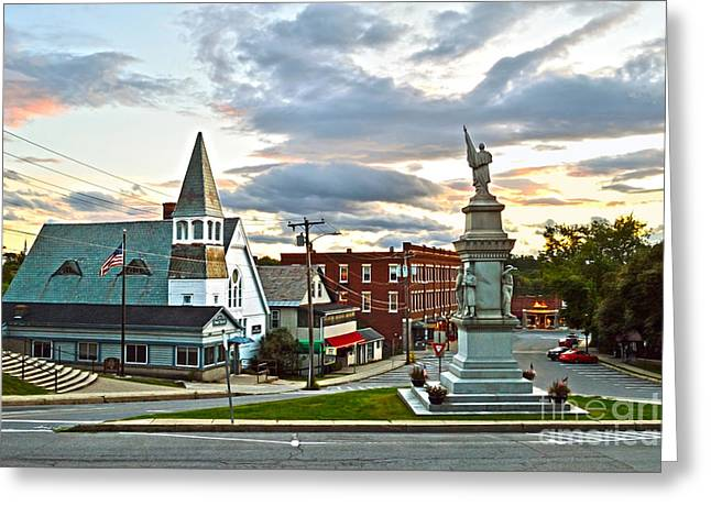 Middlebury Vermont At Sunset Greeting Card