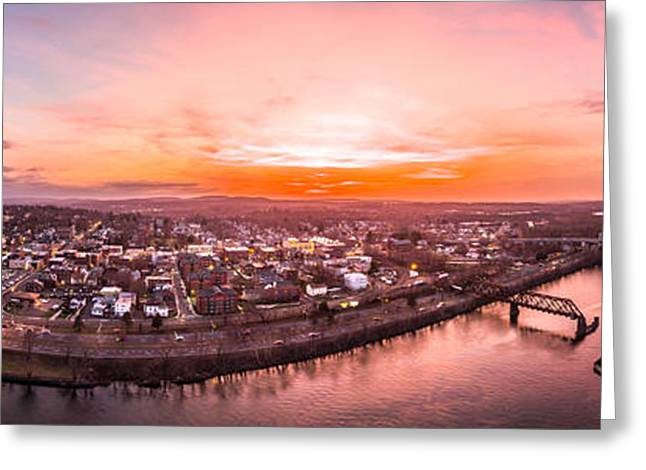 Greeting Card featuring the photograph Middletown Connecticut Sunset by Petr Hejl