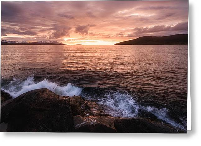 Midnight At Mannes Greeting Card by Tor-Ivar Naess