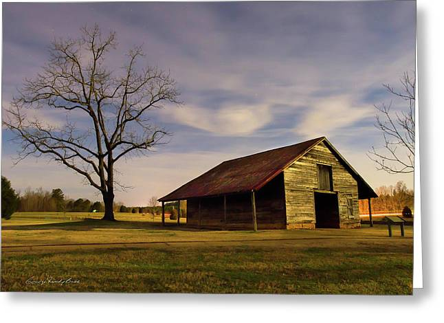 Midnight At The Mule Barn Greeting Card by George Randy Bass