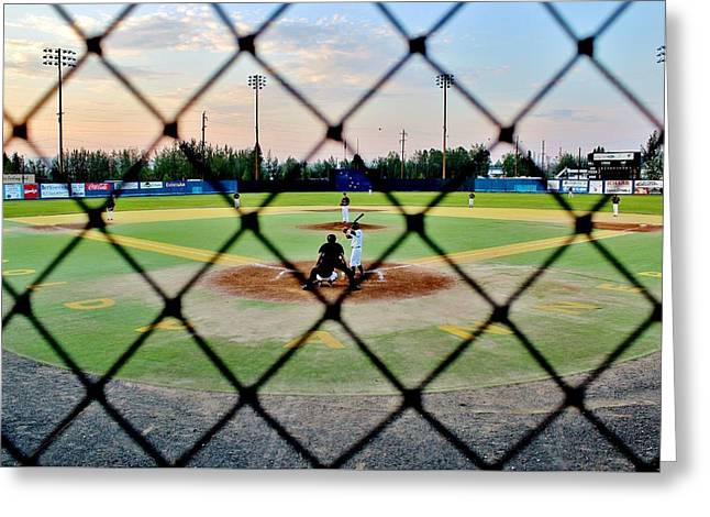 Greeting Card featuring the photograph Midnight Baseball by Benjamin Yeager