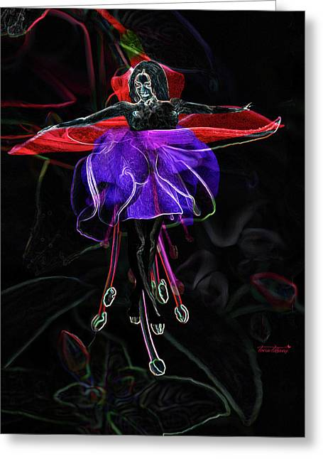 Sensuous Art Greeting Cards - Midnight Bloom Greeting Card by Torie Tiffany