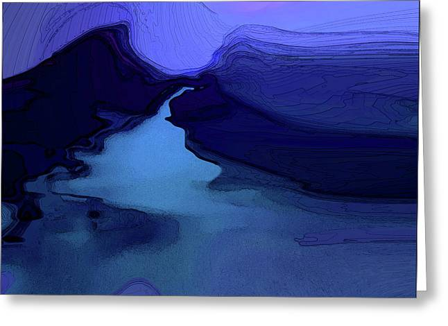 Greeting Card featuring the digital art Midnight Blue by Gina Harrison