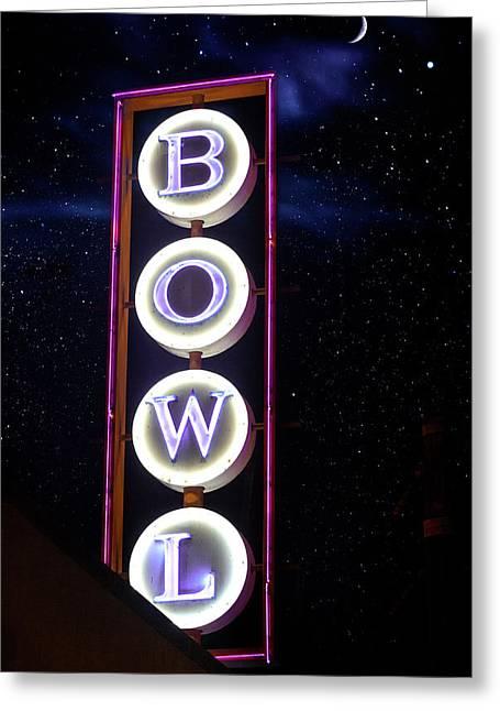 Midnight Bowling Greeting Card
