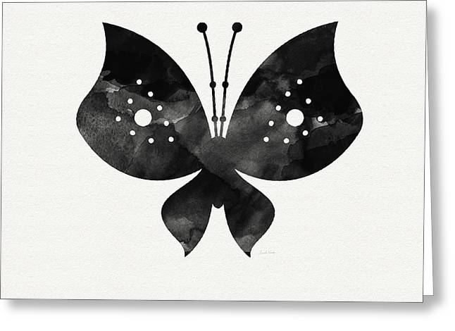 Midnight Butterfly 2- Art By Linda Woods Greeting Card by Linda Woods