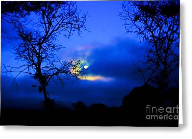 Midnight Clouds Greeting Card