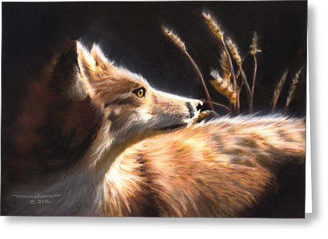 Midnight Fox Greeting Card