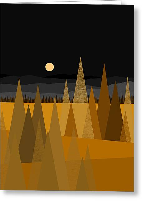 Midnight Gold Greeting Card