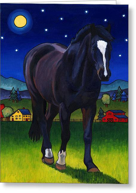 Midnight Horse Greeting Card