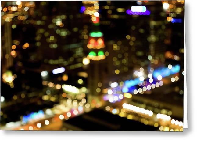 Midnight In Denver Greeting Card