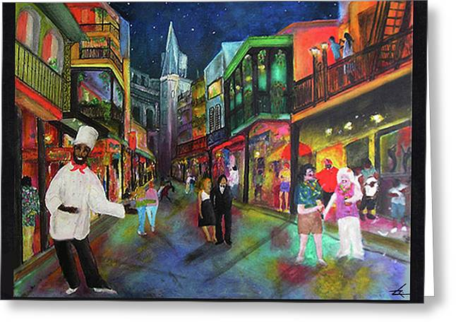Midnight In New Orleans Greeting Card