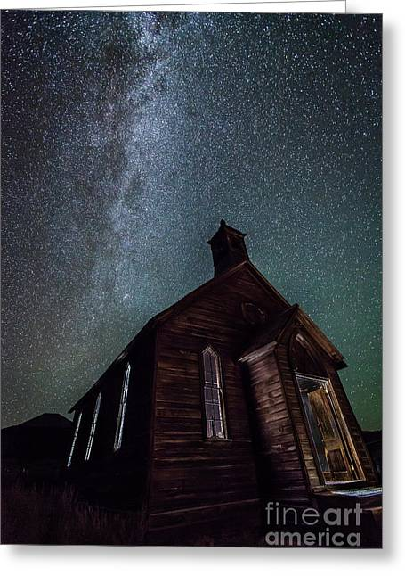 Greeting Card featuring the photograph Midnight Mass  by Charles Garcia