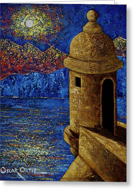 Midnight Mirage In San Juan Greeting Card