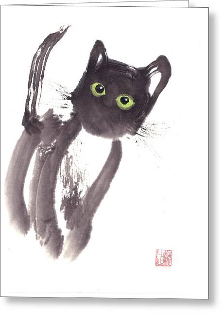 Midnight Greeting Card by Mui-Joo Wee