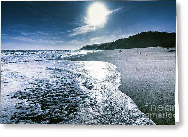 Midnight Ocean Fine Artwork Greeting Card by Jorgo Photography - Wall Art Gallery