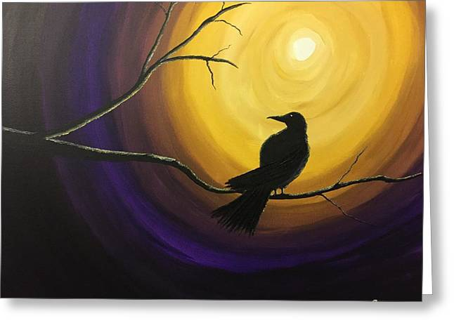 Midnight Raven Greeting Card