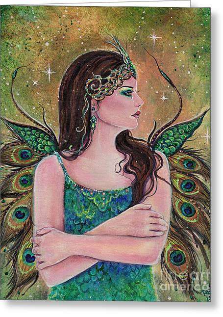 Midnight Rhapsody Greeting Card by Renee Lavoie