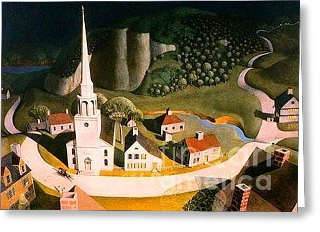 Midnight Ride Of Paul Revere Greeting Card by Frederick Holiday